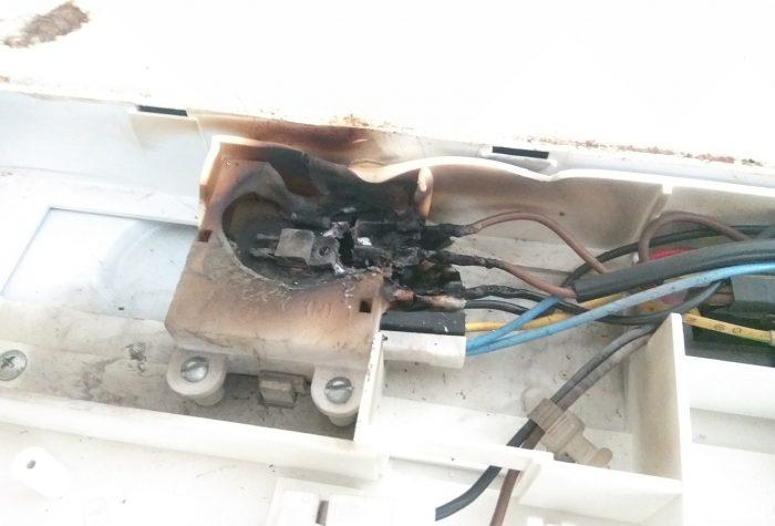 Выгорание блока управления клапаном